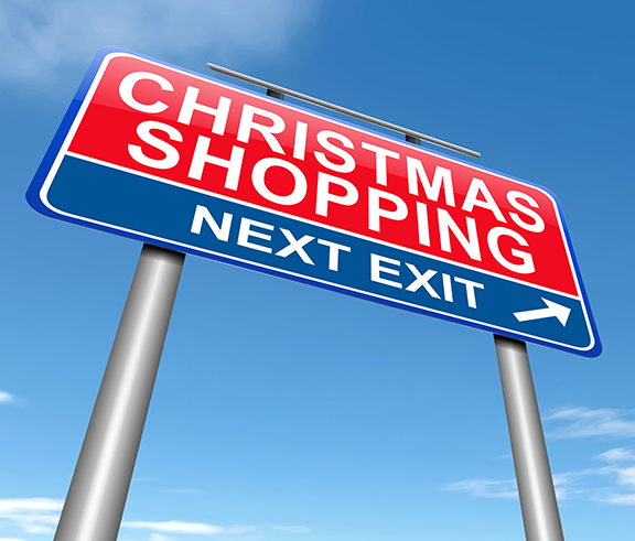 Christmas shopping next exit